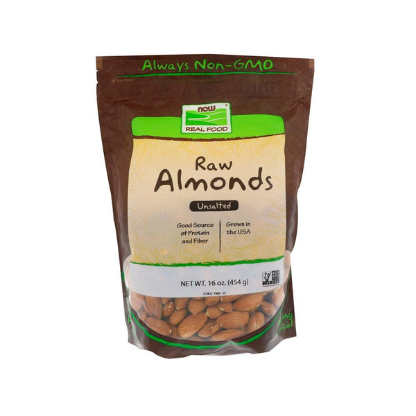 Now Foods, Raw Almonds, Unsalted, 16 oz (454 g) - Bloom Concept