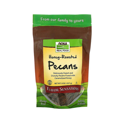 Now Foods, Real Food, Honey Roasted Pecans, 8 oz (227 g) - Bloom Concept