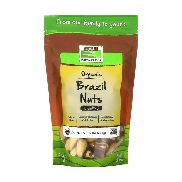 Now Foods, Real Food, Organic Brazil Nuts, Unsalted, 10 oz (284 g) - Bloom Concept