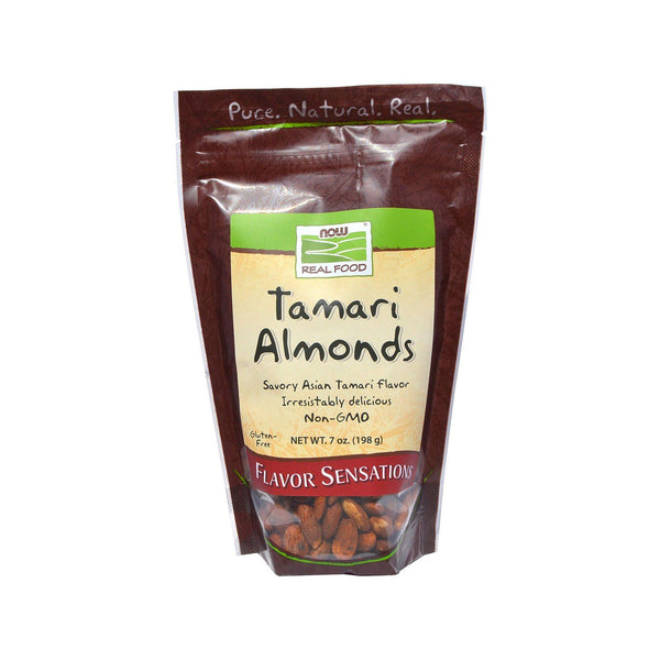 Now Foods, Real Food, Tamari Almonds, 7 oz (198 g) - Bloom Concept