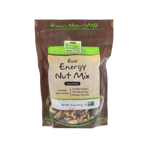 Now Foods, Real Food, Raw Energy Nut Mix, Unsalted, 16 oz (454 g) - Bloom Concept