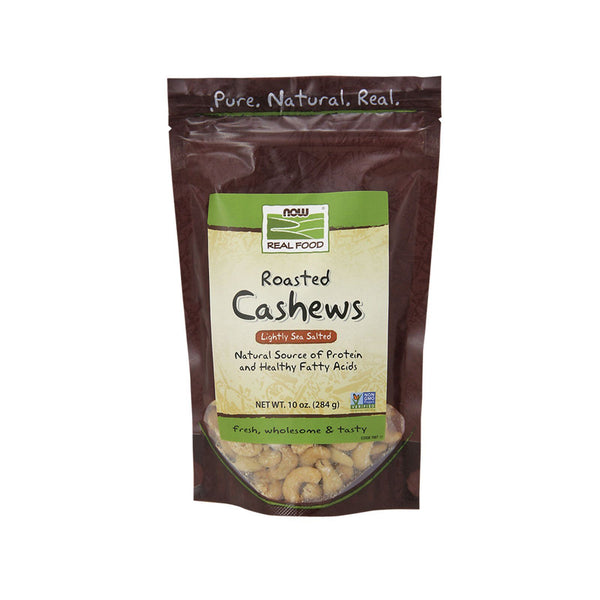 Now Foods, Real Food, Roasted Cashews, Lightly Sea Salted, 10 oz (284 g) - Bloom Concept