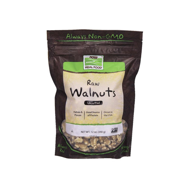 Now Foods, Raw Walnuts, Unsalted, 12 oz (340 g) - Bloom Concept
