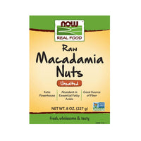 Now Foods, Real Food, Macadamia Nuts, Raw & Unsalted, 8 oz (227 g) - Bloom Concept