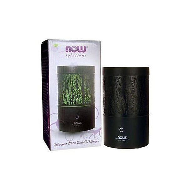 Now Foods, Ultrasonic Metal Touch Oil Diffuser (Black) - Bloom Concept