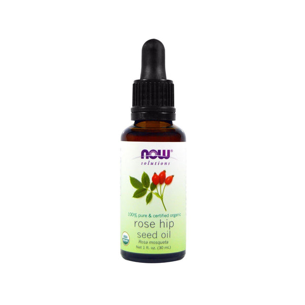 Now Foods, Solutions, Certified Organic Rose Hip Seed Oil, 1 fl oz (30 ml) - Bloom Concept