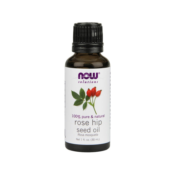 Now Foods, Solutions, Rose Hip Seed Oil, 1 fl oz (30 ml) - Bloom Concept