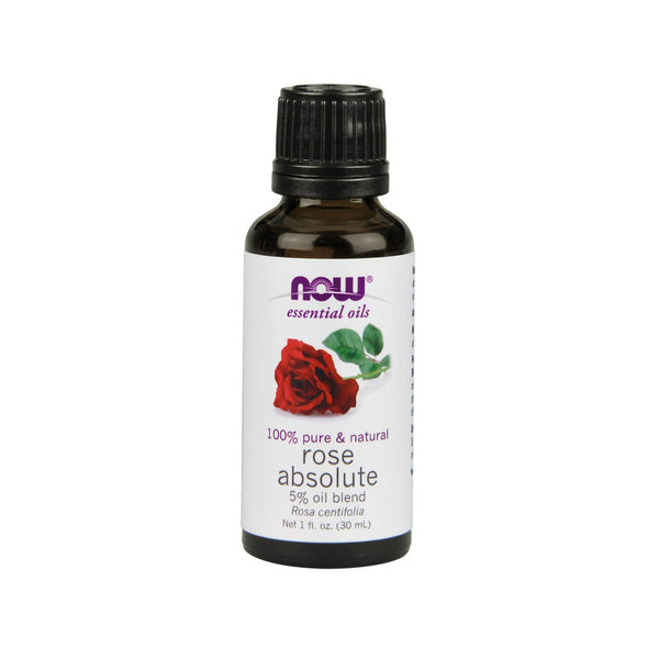 Now Foods, Essential Oils, Rose Absolute, 1 fl oz (30 ml) - Bloom Concept