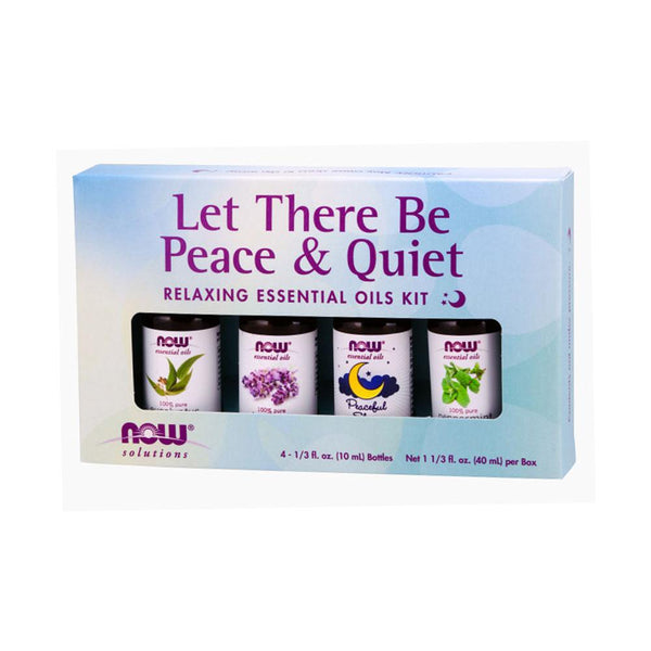 Now Foods, Let There Be Peace & Quiet, Relaxing Essential Oils Kit, 4 Bottles, 1/3 fl oz (10 ml) Each - by Bloom Concept