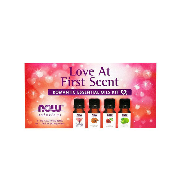 Now Foods, Solutions, Love At First Scent, Romantic Essential Oils Kit, 4 Bottles, 1/3 fl oz (10 ml) - Bloom Concept