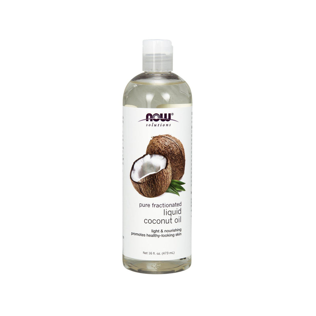 Now Foods, Liquid Coconut Oil, Pure Fractionated, 16 fl oz (473 ml) - Bloom Concept
