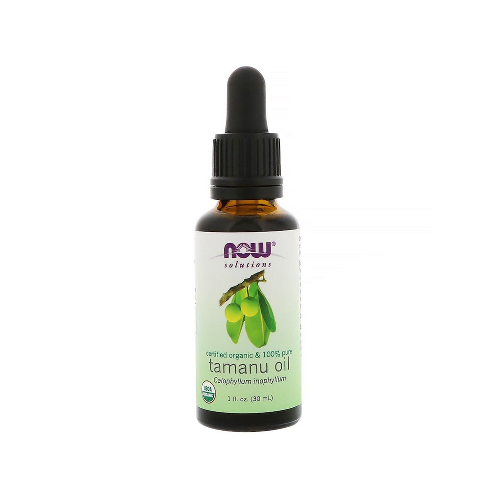 Now Foods, Certified Organic & 100% Pure, Tamanu Oil, 1 fl oz (30 ml) - Bloom Concept