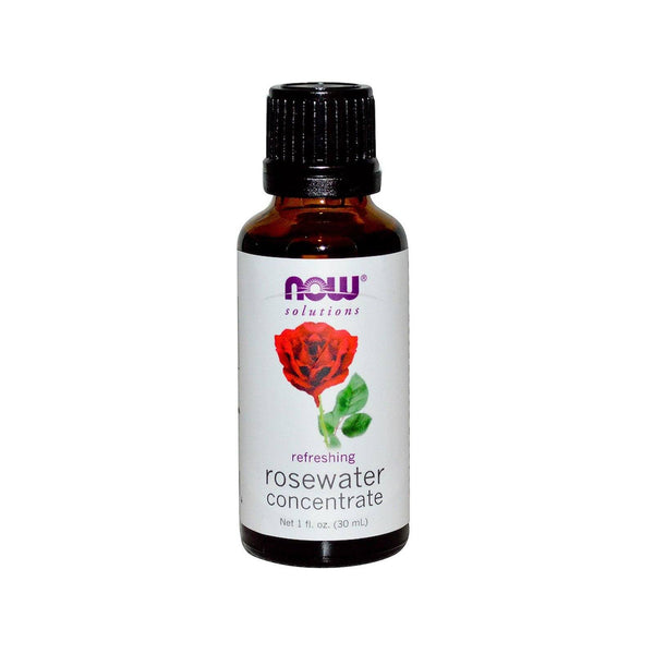 Now Foods, Rosewater Concentrate, 1 fl oz (30 ml) - Bloom Concept