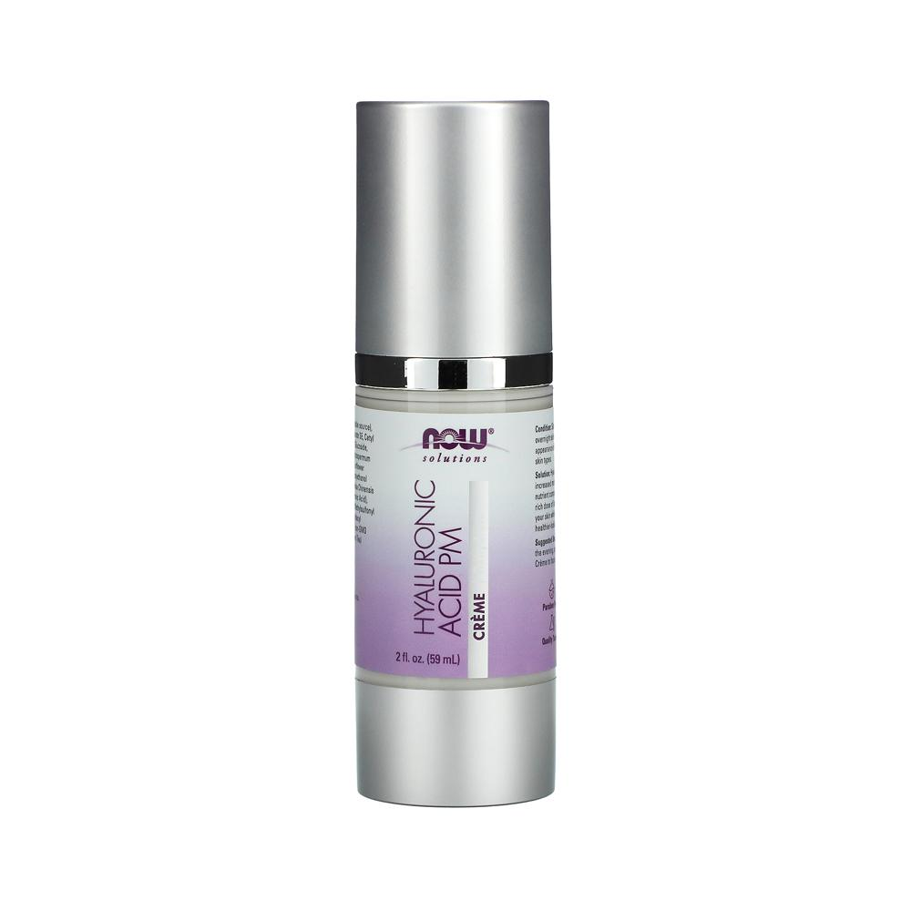 Now Foods, Solutions, Hyaluronic Acid Creme, PM Moisture Renew Formula, 2 fl oz (59 ml) - Bloom Concept