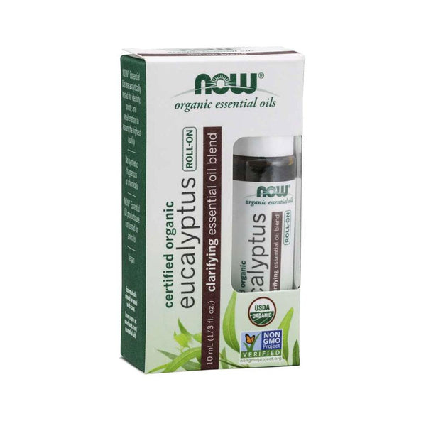 Now Foods, Eucalyptus Essential Oil Blend, Organic Roll-On , 1/3 fl oz (10 ml) - Bloom Concept
