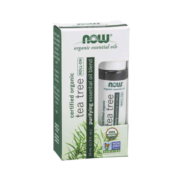 Now Foods, Tea Tree Essential Oil Blend, Organic Roll-On, 1/3 fl oz (10 ml) - by Bloom Concept