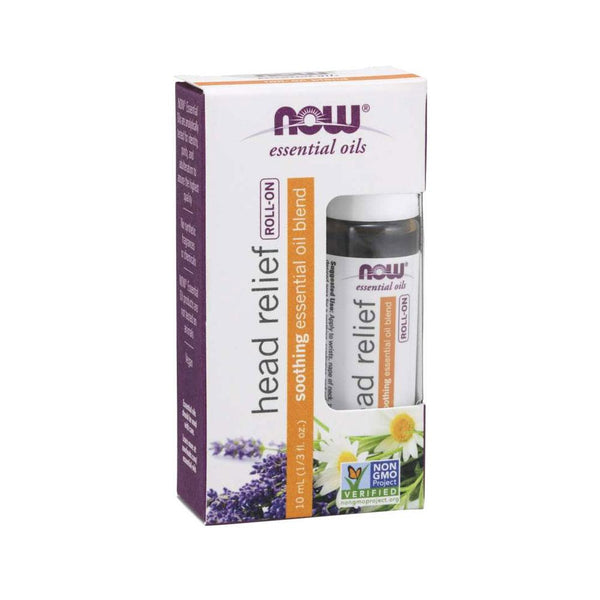 Now Foods, Head Relief Essential Oil Blend Roll-On, 1/3 fl oz (10 ml) - Bloom Concept