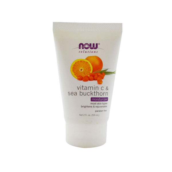 Now Foods, Solutions, Moisturizer, Vitamin C & Sea Buckthorn, 2 fl oz (59 ml) - Bloom Concept