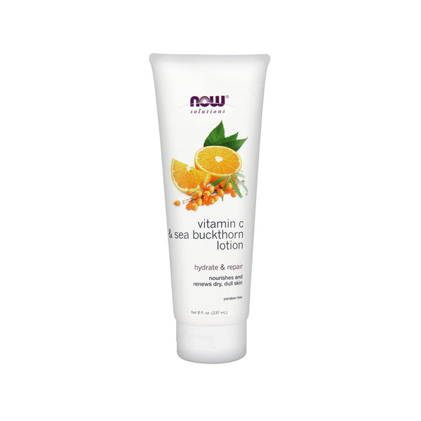 Now Foods, Vitamin C & Sea Buckthorn Lotion, 8 fl oz (237 ml) - Bloom Concept
