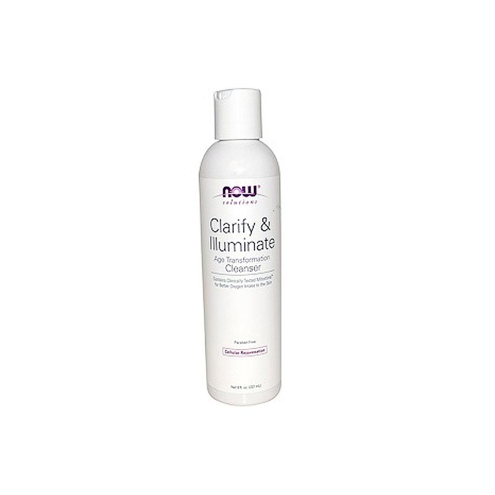 Now Foods, Solutions, Clarify & Illuminate Cleanser, 8 fl oz (237 ml) - Bloom Concept