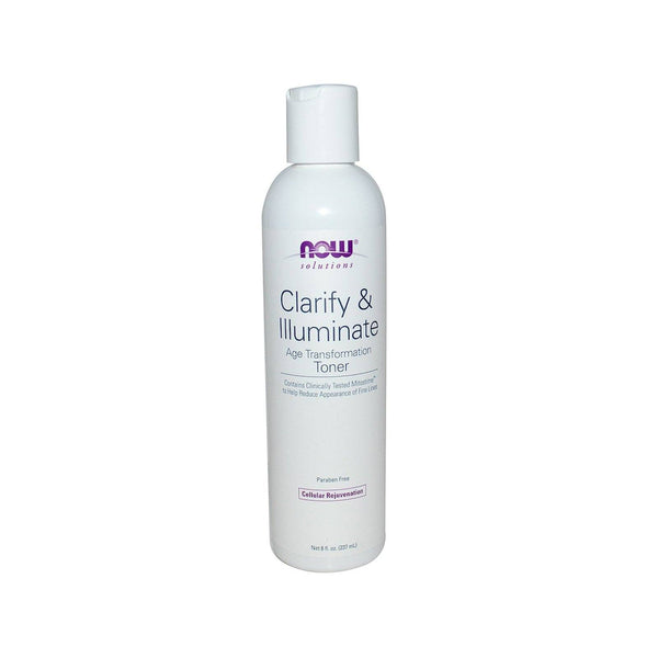 Now Foods, Solutions, Clarify & Illuminate Toner, 8 fl oz (237 ml) - (Best by 09/20) - Bloom Concept