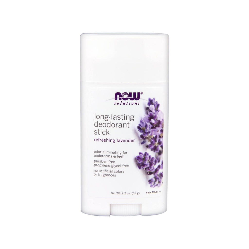 NOW Foods, Long-Lasting Deodorant Stick, Refreshing Lavender, 2.2 oz - Bloom Concept
