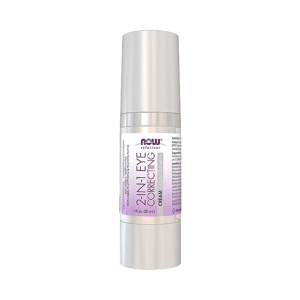 Now Foods, Solutions, 2 in 1 Correcting Eye Cream, 1 fl oz (30 ml) - Bloom Concept