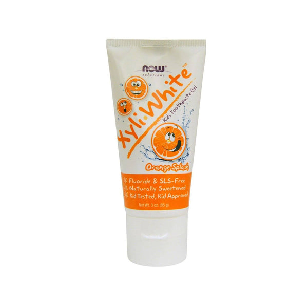 Now Foods, Solutions, XyliWhite, Kids Toothpaste Gel, Orange Splash, 3 oz (85 g) - Bloom Concept