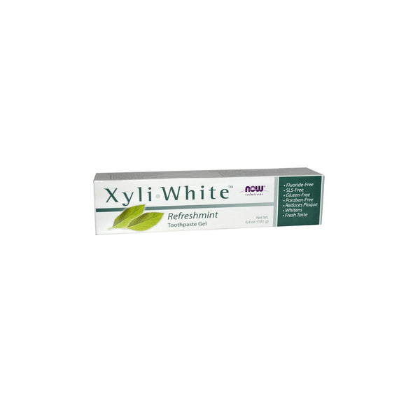 NOW Foods XyliWhite Refresh mint Toothpaste Gel, 6.4 oz (181 g) - Bloom Concept