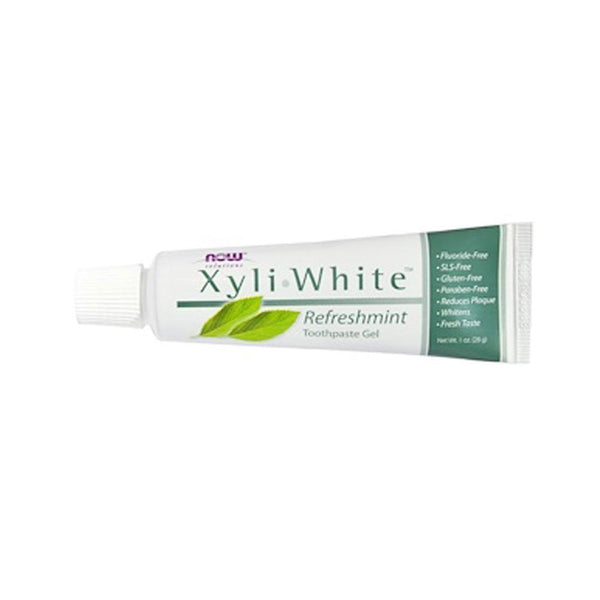 Now Foods, Solutions, XyliWhite, Toothpaste Gel, Refreshmint, 1 oz (28 g) - Bloom Concept