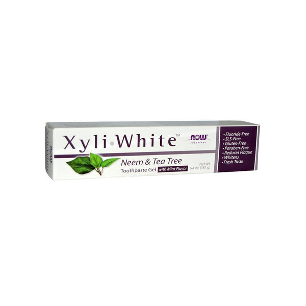 NOW Foods XyliWhite Neem & Tea Tree Toothpaste Gel, 6.4 oz (181g) - Bloom Concept