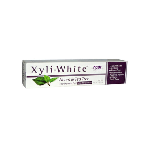 NOW Foods XyliWhite™ Neem & Tea Tree Toothpaste Gel, 6.4 oz (181g) - Bloom Concept