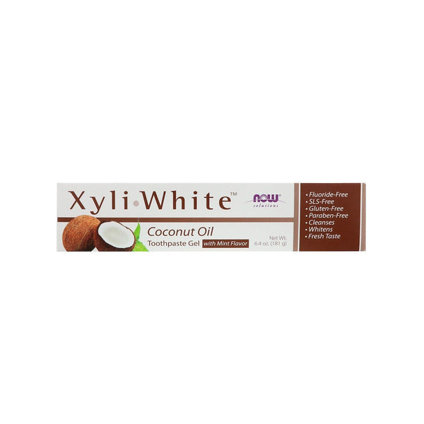 NOW Foods XyliWhite Coconut Oil Toothpaste Gel, 6.4 oz (181g) - Bloom Concept