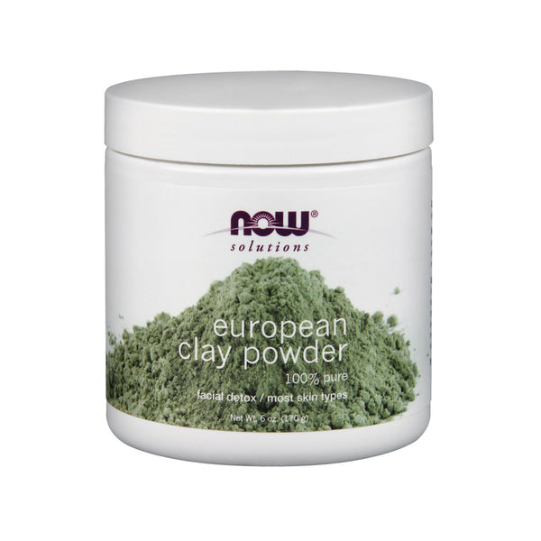 Now Foods, Solutions, European Clay Powder, Facial Detox, 6 oz (170 g) - Bloom Concept