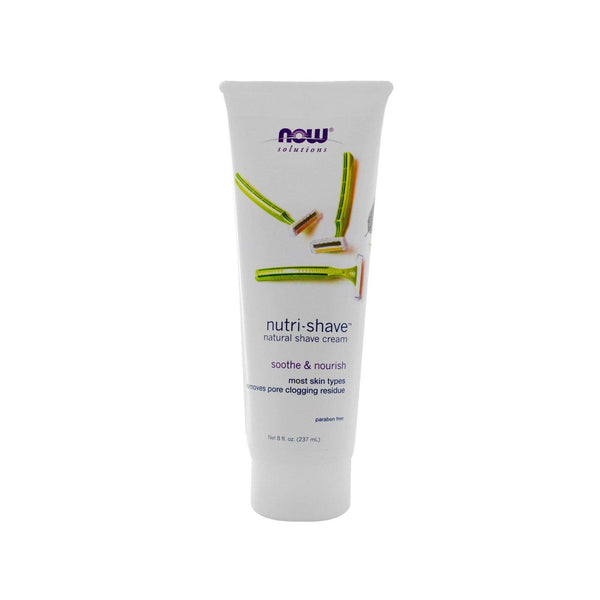 Now Foods, Solutions, Nutri-Shave, Natural Shave Cream, 8 fl oz (237 ml) - Bloom Concept