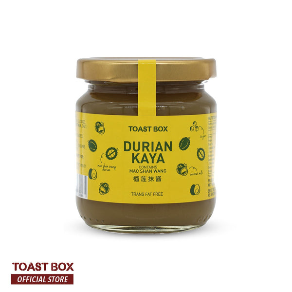 Toast Box Mao Shan Wang Durian Kaya 225gm - Bloom Concept