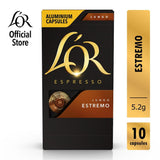 LOR Espresso Lungo Estremo Intensity 10 - Nespresso®* Compatible Coffee Capsules - Bloom Concept