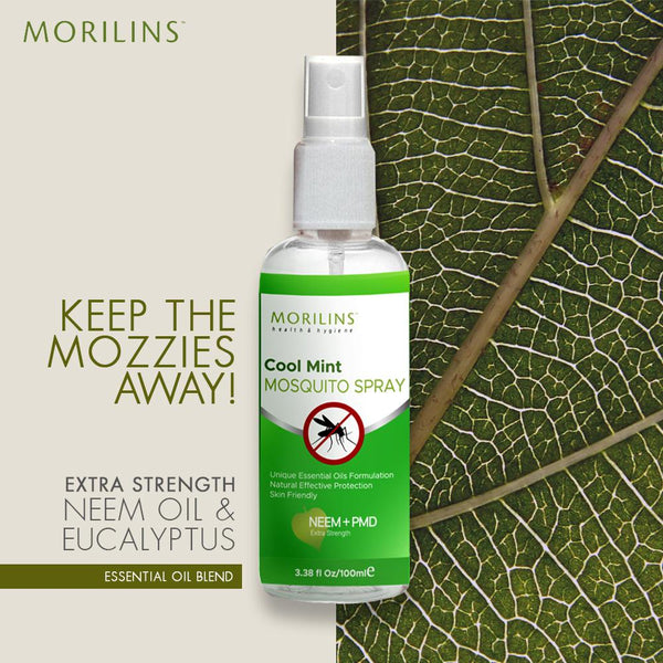 Morilins Mosquito Spray - Cool Mint 100ml - Bloom Concept