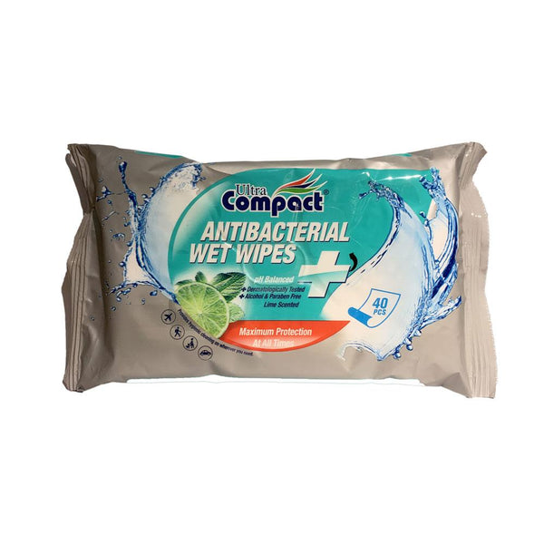 Ultra Compact Antibacterial Wet Wipes 40's - Bloom Concept