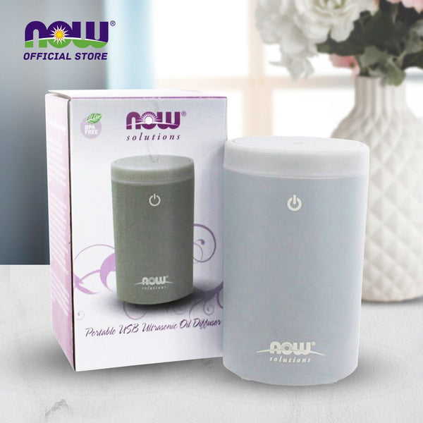 Now Foods, Ultrasonic Portable USB Oil Diffuser (Grey) - Bloom Concept