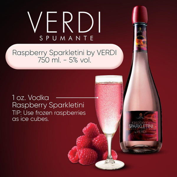 Raspberry Sparkletini by VERDI 750 ml. - 5% vol. - Bloom Concept