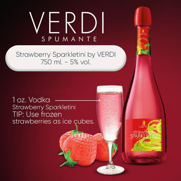 Strawberry Sparkletini by VERDI 750 ml. - 5% vol. - by Bloom Concept