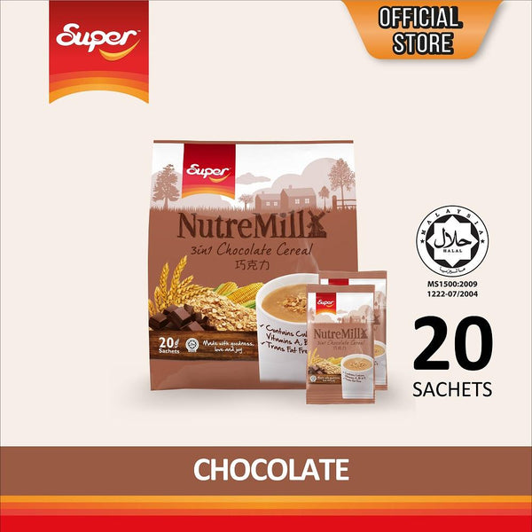 Super NutreMill 3 in 1 Instant Cereal Drink - Chocolate - by Bloom Concept