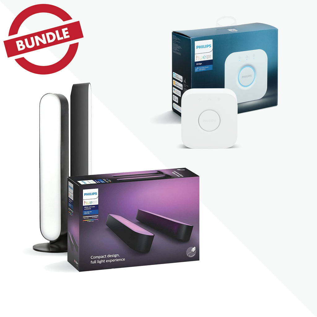 Philips Hue PLAY Base Kit (2 pack) + Bridge BUNDLE