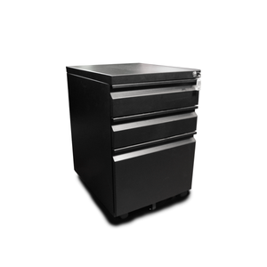 Zenox Mobile 3-Drawer Cabinet (Black)