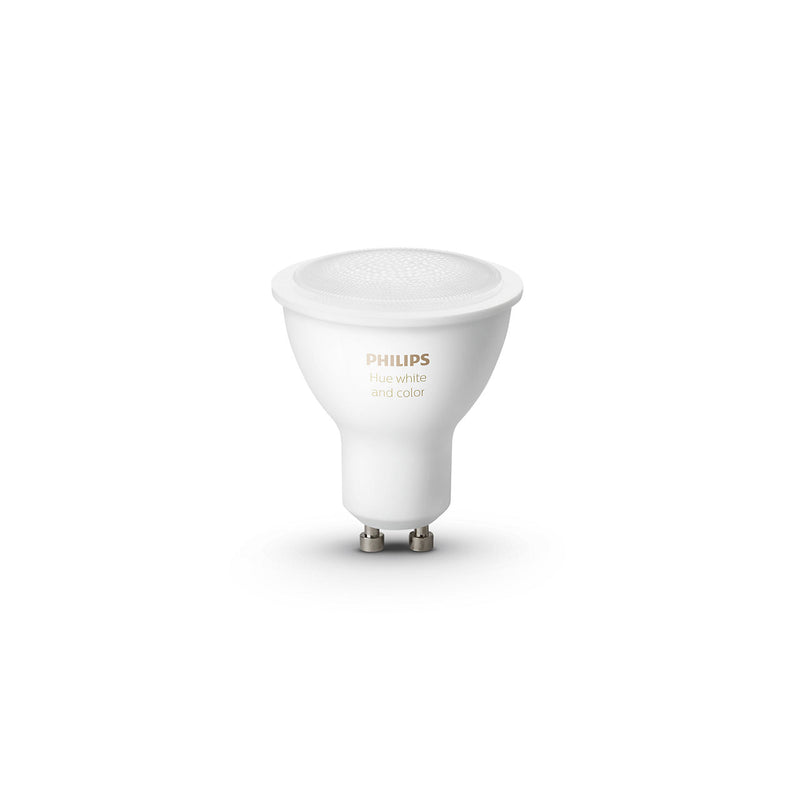 Philips Hue White and Colour Ambiance Bluetooth Single Bulb 5.7W GU10