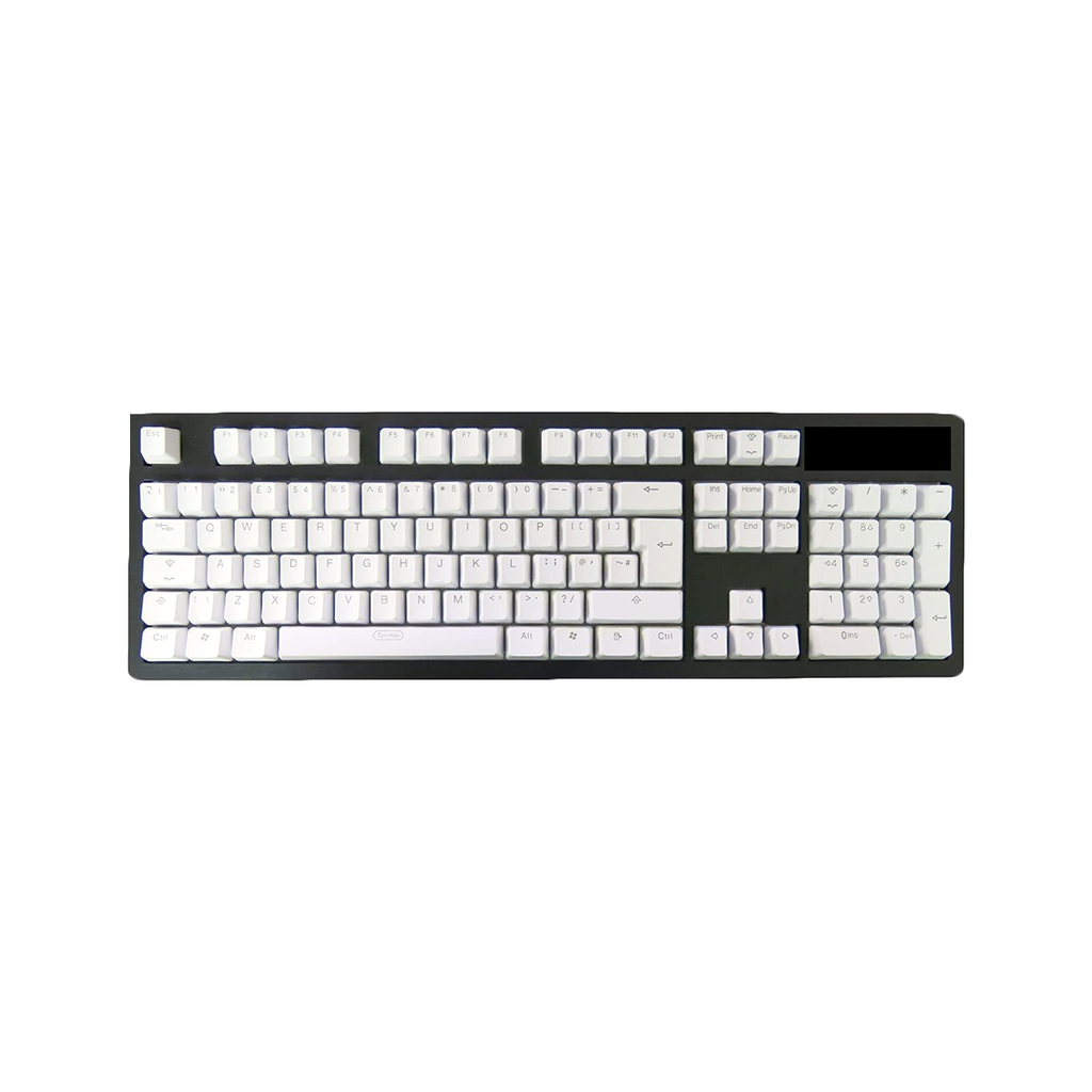 Tai-Hao Doubleshot PBT Backlit 104 Keycaps + 2 Keys Puller (Orchid White)