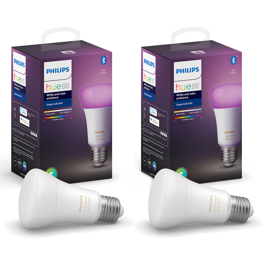 Philips Hue White and Color Ambiance Bluetooth Bulb 9W A60 E27 TWIN PACK