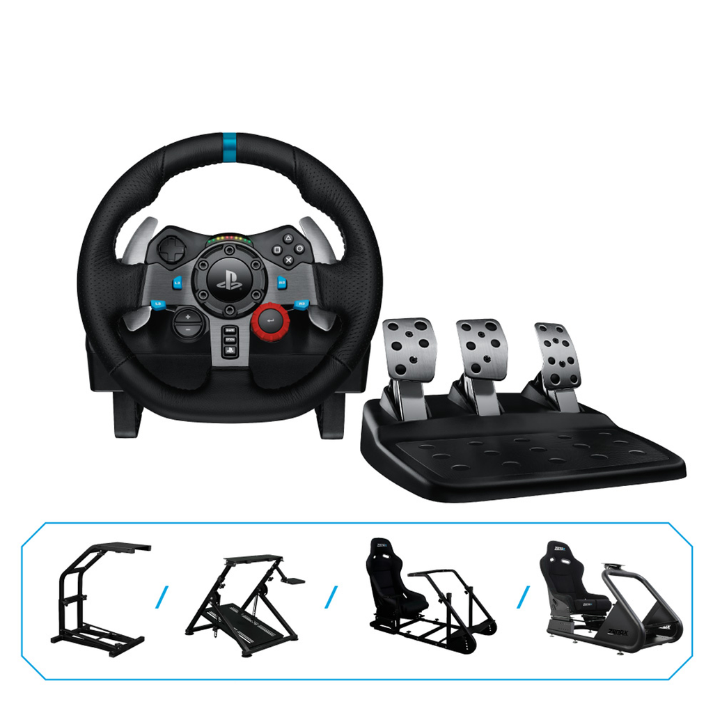 Logitech G29 Gaming Racing Wheel x Zenox Simulator Rig Bundle