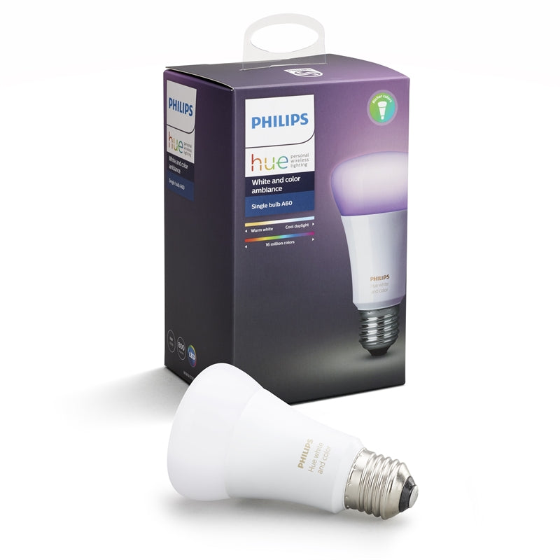 Philips Hue White and Color Ambiance Single Bulb 10W A60 E27